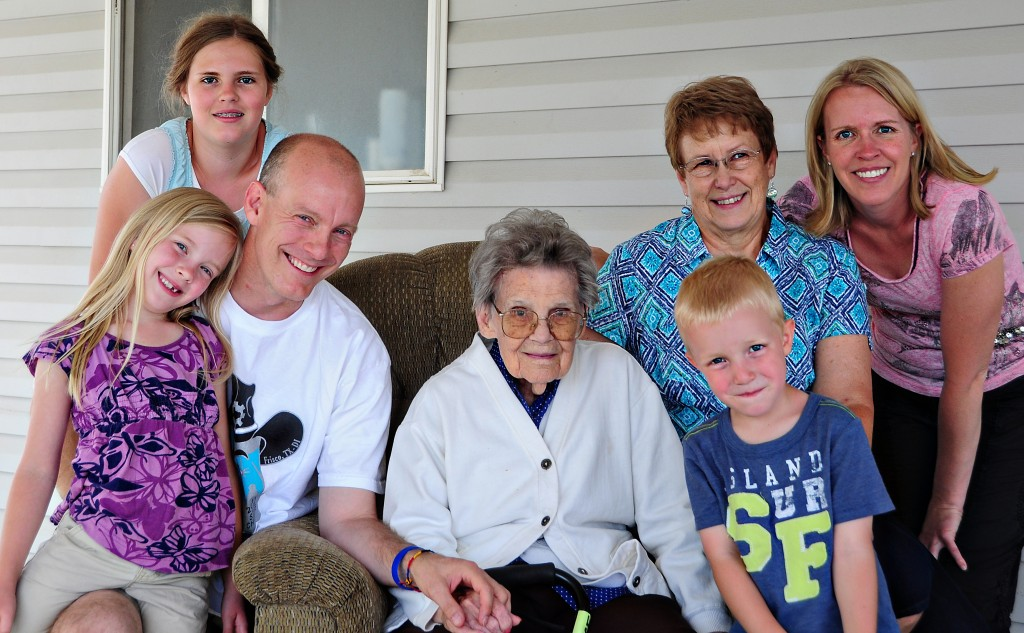 Fam with Gran and Grandma Jones